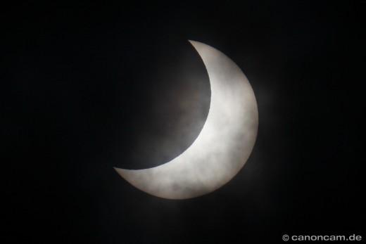 Detail Sonne - partielle Sonnenfinsternis