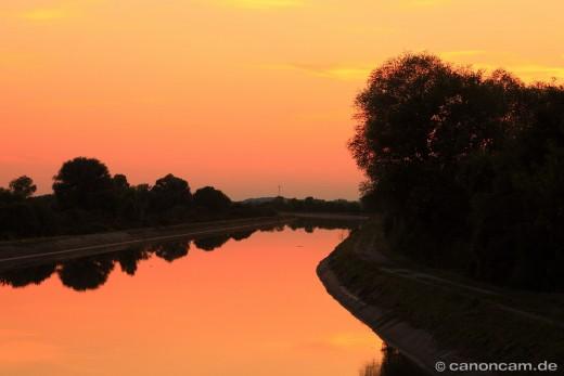 Beton-Idylle im Sonnenuntergang