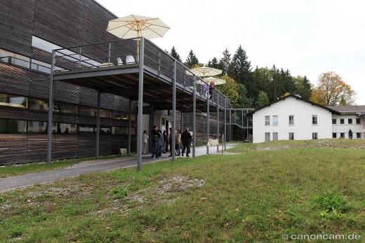 Blick auf eines der Gebäude
