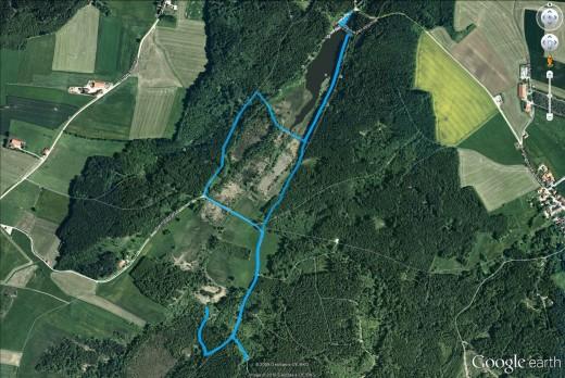Unsere heutige Exkursions-Route - Kartenmaterial (c) Google