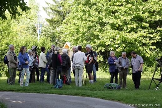 Besucher der Wanderfalken-Beobachtung, 2014