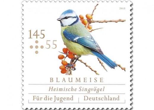 Blaumeise - Zuschlag-Briefmarke der Deutschen Post (c) Deutsche Post