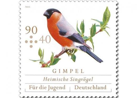 Gimpel - Zuschlag-Briefmarke der Deutschen Post (c) Deutsche Post