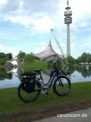 Flyer Cargo ebike im Olympiapark München