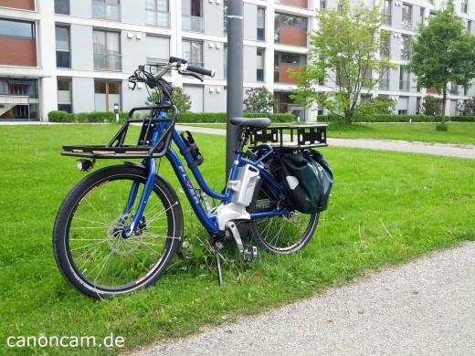 Flyer Cargo Lasten-E-bike - angeschlossen