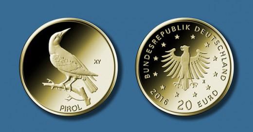 20-Euro-Goldmünze 2017 ?Pirol? © BADV