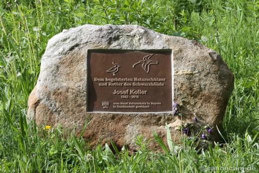 Gedenkstein für Josef Koller im Schwarzhölzl