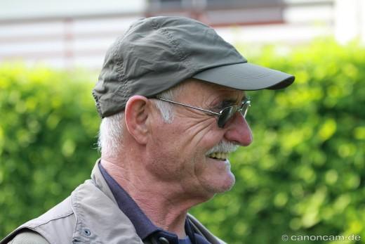 Werner Borok informiert über Greifvögel, insb. über Wanderfalken