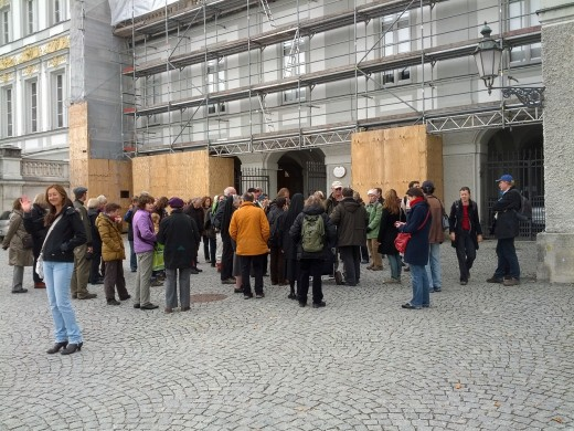 Treffpunkt vor dem Nymphenburger Schloss